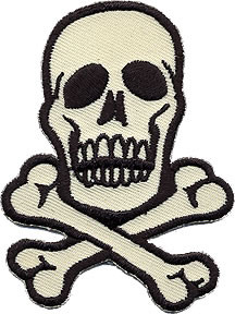 Skull Beige Patch Medium 2.75