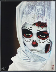 Gustavo Rimada White Veil Hand Signed Print Image