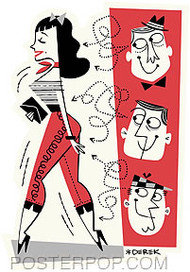 Derek Yaniger Girl Watchers Sticker Image