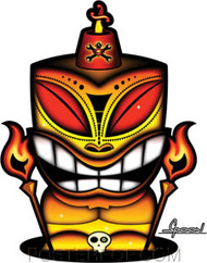 Chico Von Spoon Tiki Sticker Image