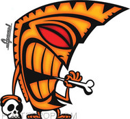 Chico Von Spoon Tiki Bone Sticker Image