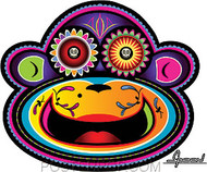 Chico Von Spoon Sugar Monkey Sticker Image