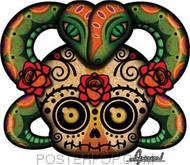 Chico Von Spoon Skull Sticker Image