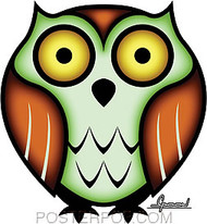 Chico Von Spoon Owl Sticker Image