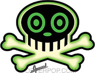 Chico Von Spoon Green Skull Sticker Image
