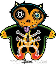 Chico Von Spoon 8 Ball Kitty Sticker Image