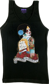 Gustavo Tattooed Beauty Woman's Boy Beater Tank Top Image
