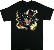 Vince Ray Black Cat T-Shirt Image