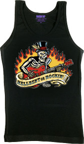 Vince Ray Hellbent on Rockin Womans Boy Beater Tank Top Image