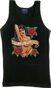 Almera Ama Mujeres Woman's Boy Beater Tank Top Image
