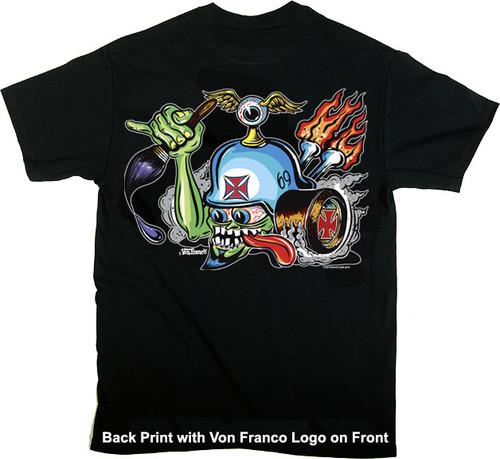Von Franco Von Helmet T Shirt Image