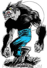 Ben Von Strawn Wolfman Sticker