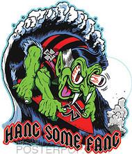 Ben Von Strawn Hang Some Fang Sticker Image