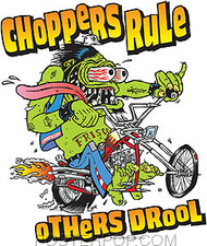 Kozik Choppers Rule Sticker Image