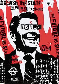 Kozik Reagan Destroy Sticker Image
