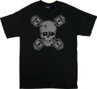 Kozik Sick Piston Skull T Shirt Image
