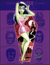 Ben Von Strawn Spooky Girl Hand Signed Artist Print Image