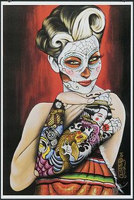 Gustavo Rimada Koi Geisha Hand Signed Print Image