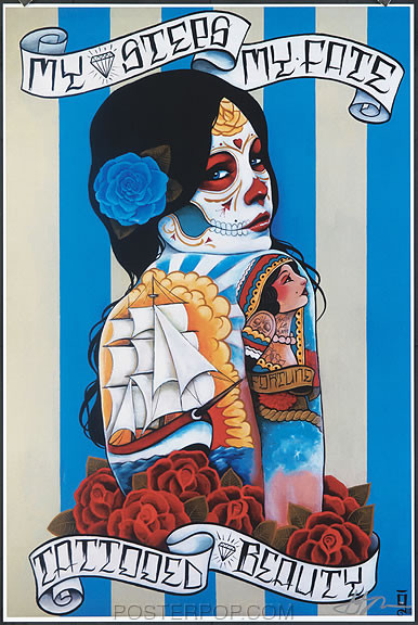 Gustavo Rimada Tattooed Beauty Hand Signed Print Image