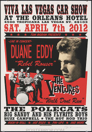 Rob Kruse The Ventures, VLV15 Silkscreen Car Show Poster 2012 Image