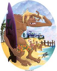 Pizz Surf Trog Sticker Image