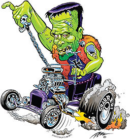 Pizz Young Frankenrod Sticker Image