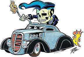 Pizz Knuckle Skull Sticker Image