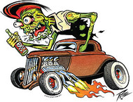 Pizz Zombie Rod Sticker Image