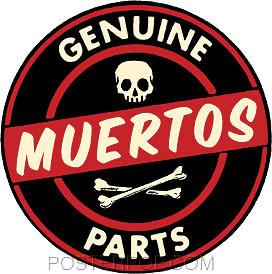 Kruse Genuine Muertos Parts Sticker Image