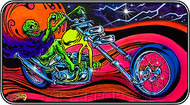 Dirty Donny Blacklight Rider Sticker Image