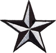 Star 3-d White-Black Patch Image