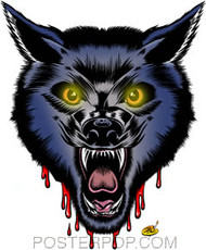 Dirty Donny Image Blood Wolf Sticker Image