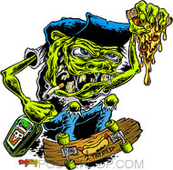 Dirty Donny 2 Twisted Sticker Skateboarder Image