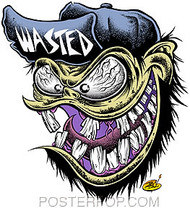 Dirty Donny Wasted Fink Sticker Image