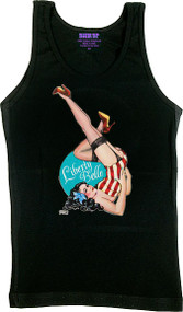 Gustavo Rimada Liberty Belle Woman's Ribbed Boy Beater Tank Image