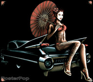 Almera 59 Caddy Geisha Sticker Image