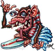 BigToe Hang Tongue Sticker Image
