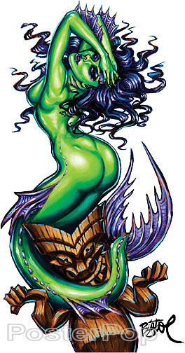 BigToe Green Siren Sticker Image