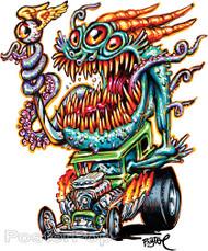 BigToe Deep One Hotrod Sticker Image