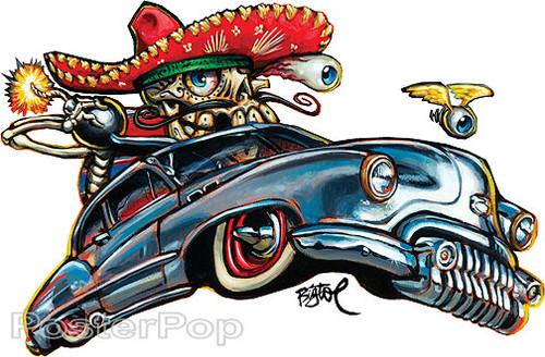 BigToe Custom Calavara Sticker Image