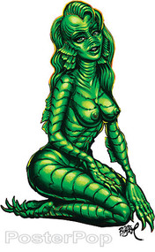 BigToe Creature Girl Sticker Image