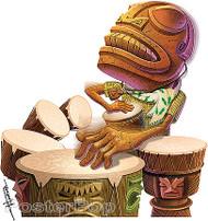 Doug Horne Tiki Bongo Sticker Image