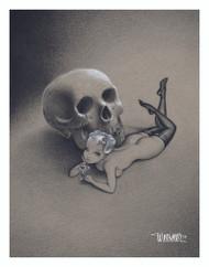 Weesner Martini Pixie Signed Art Print Image