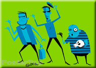 Shag Hatbox Ghouls Fridge Magnet. Shag Disney Hatbox Ghosts Ghouls Hitchhiking Haunted Mansion Image GREEN