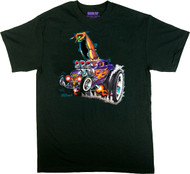 Von Franco Monster Shifter T Shirt, Hot Rod Coupe, Deuce Coupe, Ed Roth, 60's, Gasser, Model Kit Car