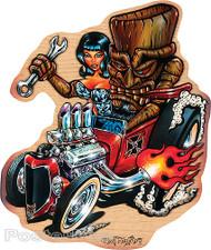 Von Franco Tiki Rod Sticker