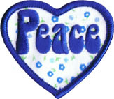 Peace Heart Patch Image