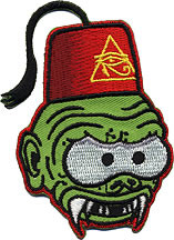Kruse Fez Freak Patch, Embroidered, Iron On Patches