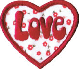 Love Heart Patch Image