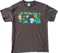 Shag Zombie T Shirt. Available on Brown T-Shirts. Drink Recipe for a Zombie Drink. Image